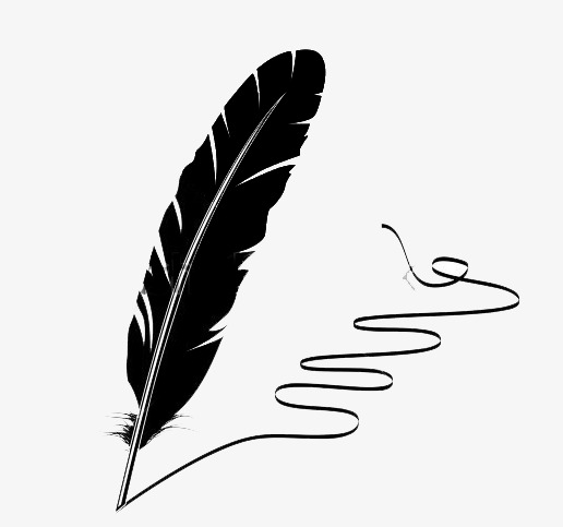Quill, Black Quill, Black PNG Image And Clipart - Feather Pen PNG Black And White