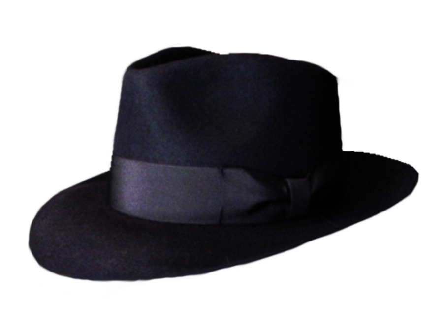 black hat png stock by DoloresMinette PlusPng.com  - Fedora Hat PNG