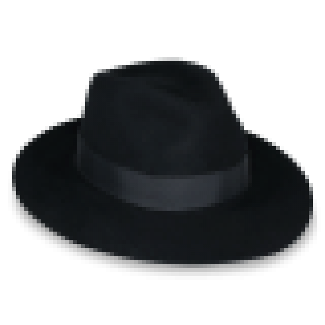 County Line Black felt Wide Brim Fedora hat right side view - Fedora Hat PNG