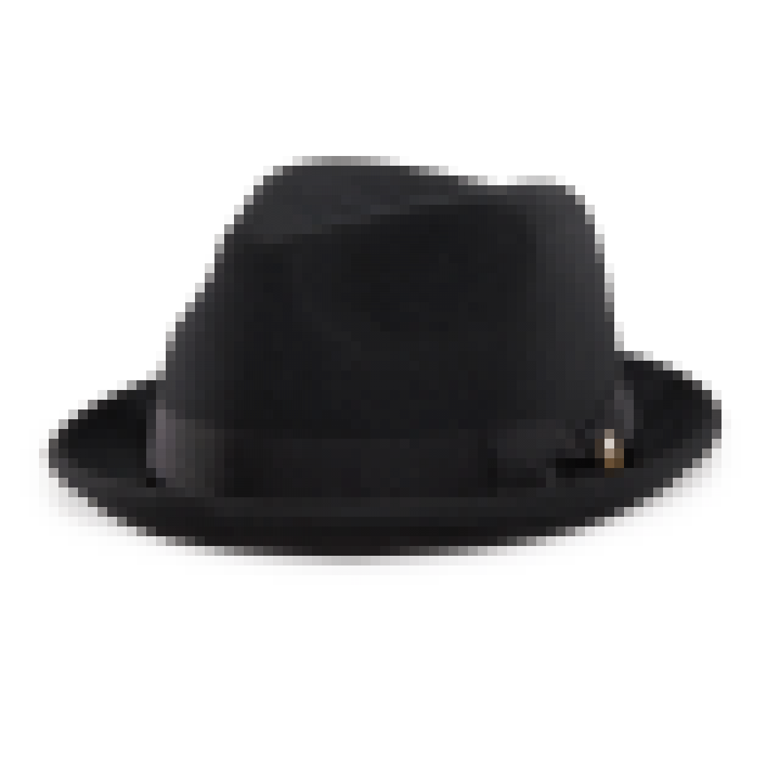 Good Boy Black felt Stingy Brim Fedora hat left side view - Fedora Hat PNG