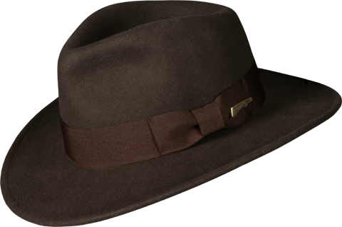 Indiana Jones Fedora Apparel - Fedora Hat PNG