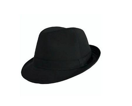 Shiny Black Fedora Hat - Fedora Hat PNG