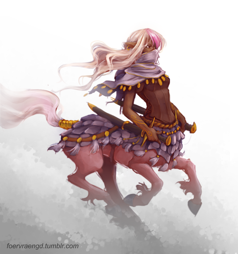 fanpro986 centaur warrior Queen! by FOERVRAENGD female elf ranger armor  clothes clothing fashion player character - Female Centaur PNG