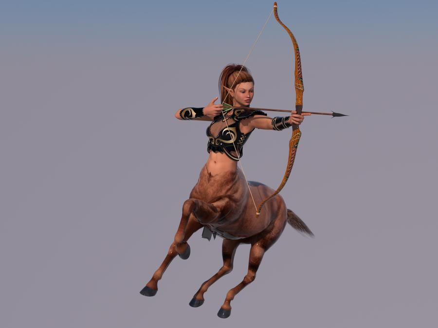 redone centaur bow by lasserine PlusPng.com  - Female Centaur PNG