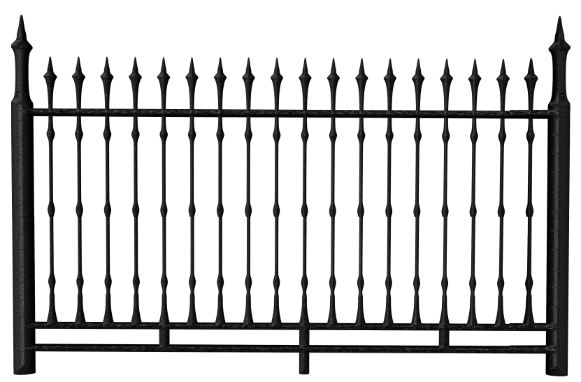 Transparent Black Iron Fence PNG Clipart - Fence PNG