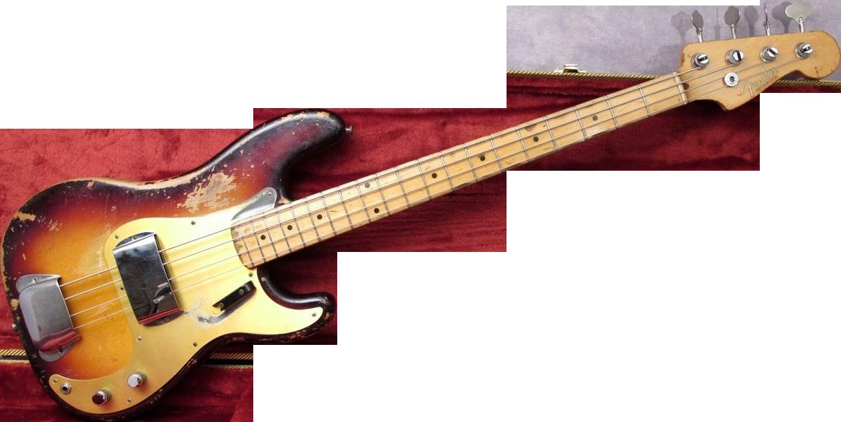 . PlusPng.com 1958 fender precision bass guitar - Fender PNG