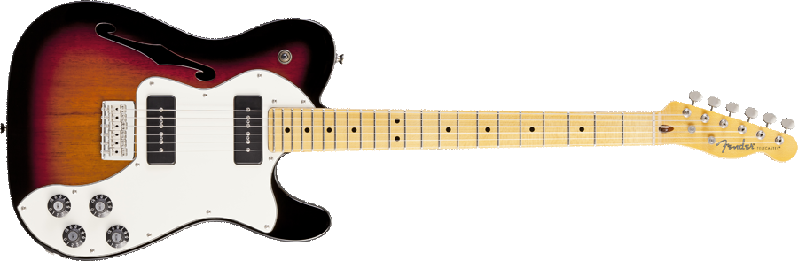 Fender Modern Player Telecaster Thinline Deluxe dimi78 images - Fender PNG