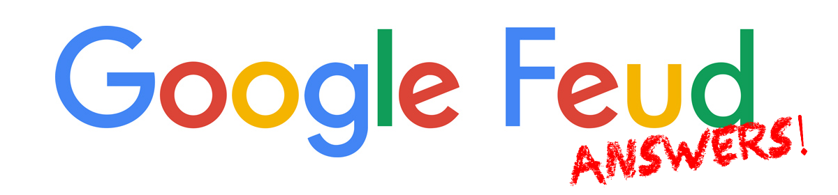 Google Feud Answers - Feud PNG