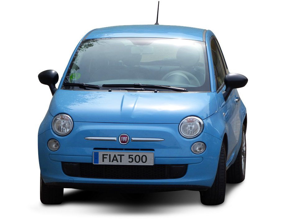Car, Transparent Background, Fiat, Fiat 500, Blue Car - Fiat HD PNG