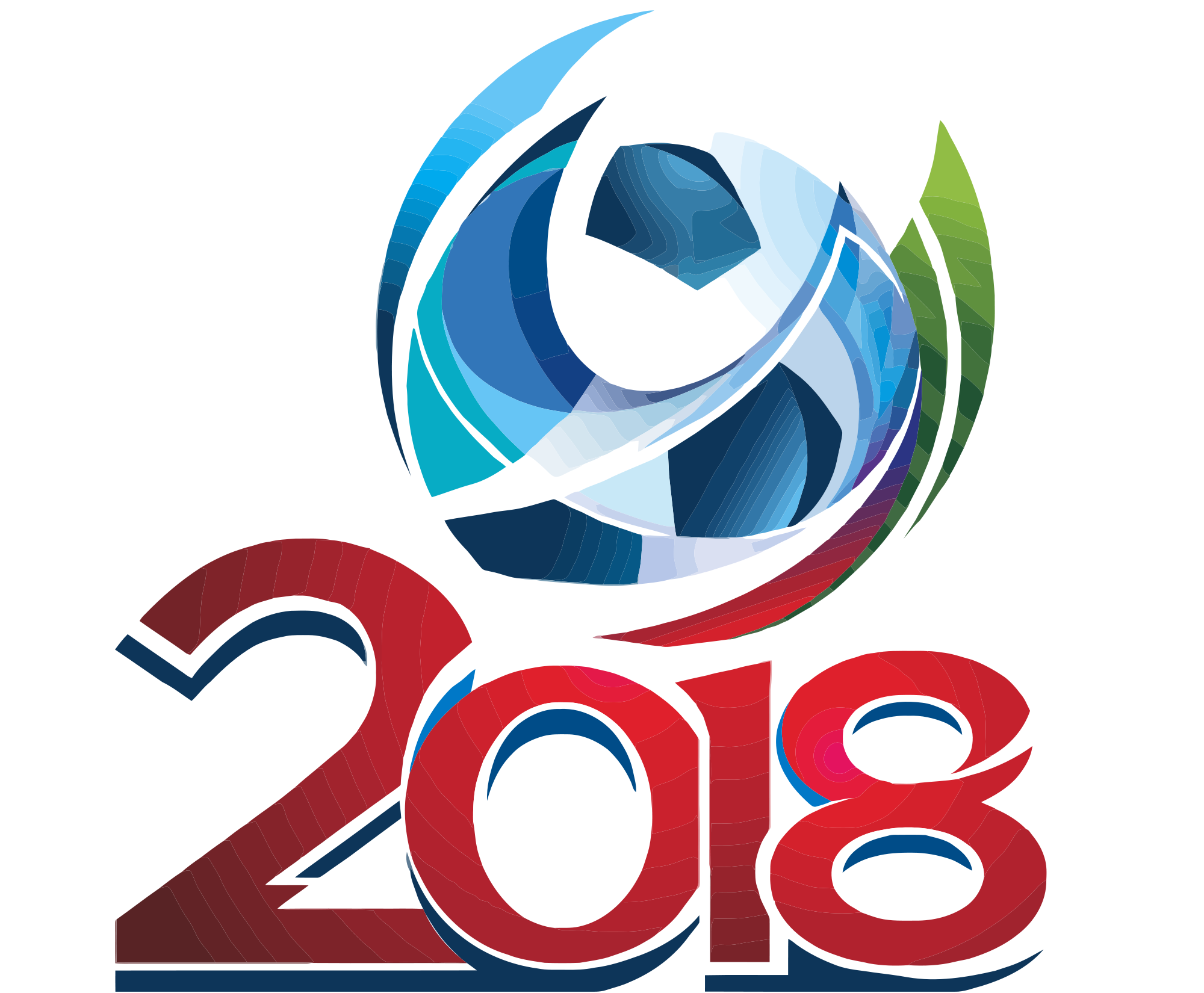 2009-2014. FIFA World Cup Russia 2018 bidding logo.svg - Fifa World Cup 2018 Logo PNG