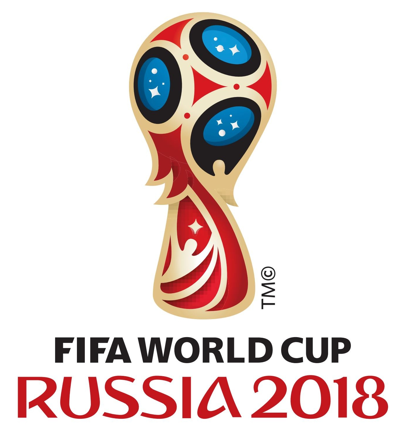 2018 World Cup logo vector, 2