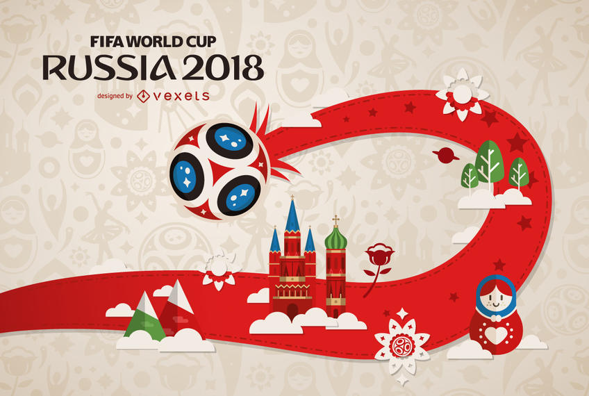 Russia 2018 FIFA World Cup design - Fifa World Cup 2018 Vector PNG