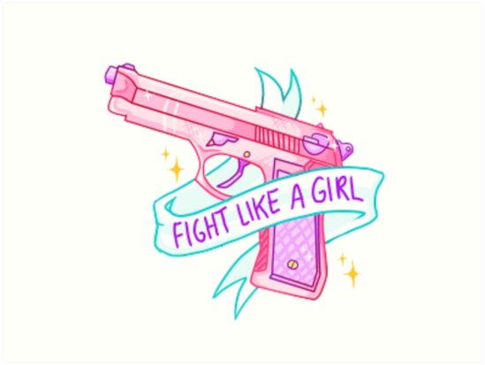 Fight Like A Girl PNG - 68964