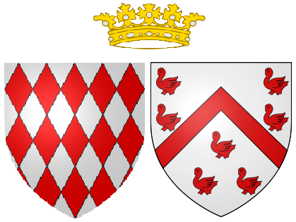 File:Coat of arms of Louise du0027Aumont as Hereditary Princess of Monaco. - Monaco PNG