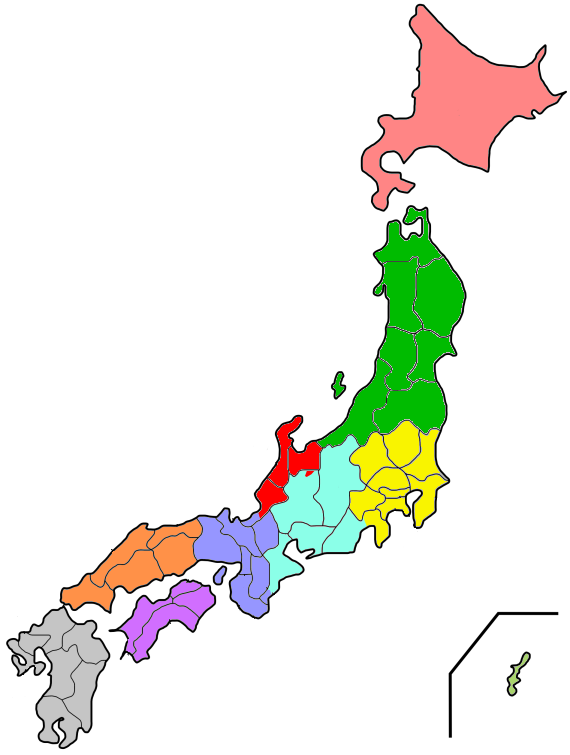 File:Electric utilities map of Japan.png - Japan PNG