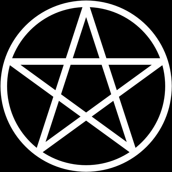 File:Pentacle on black.PNG - Pentacle PNG