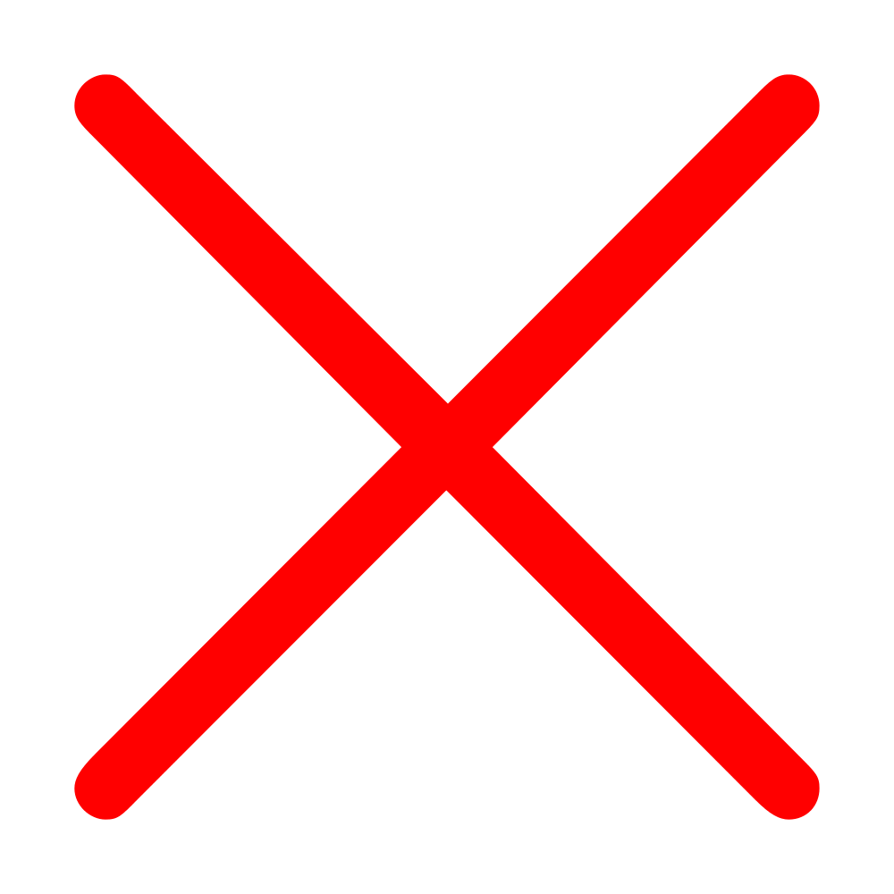 Red Cross Mark PNG - 509