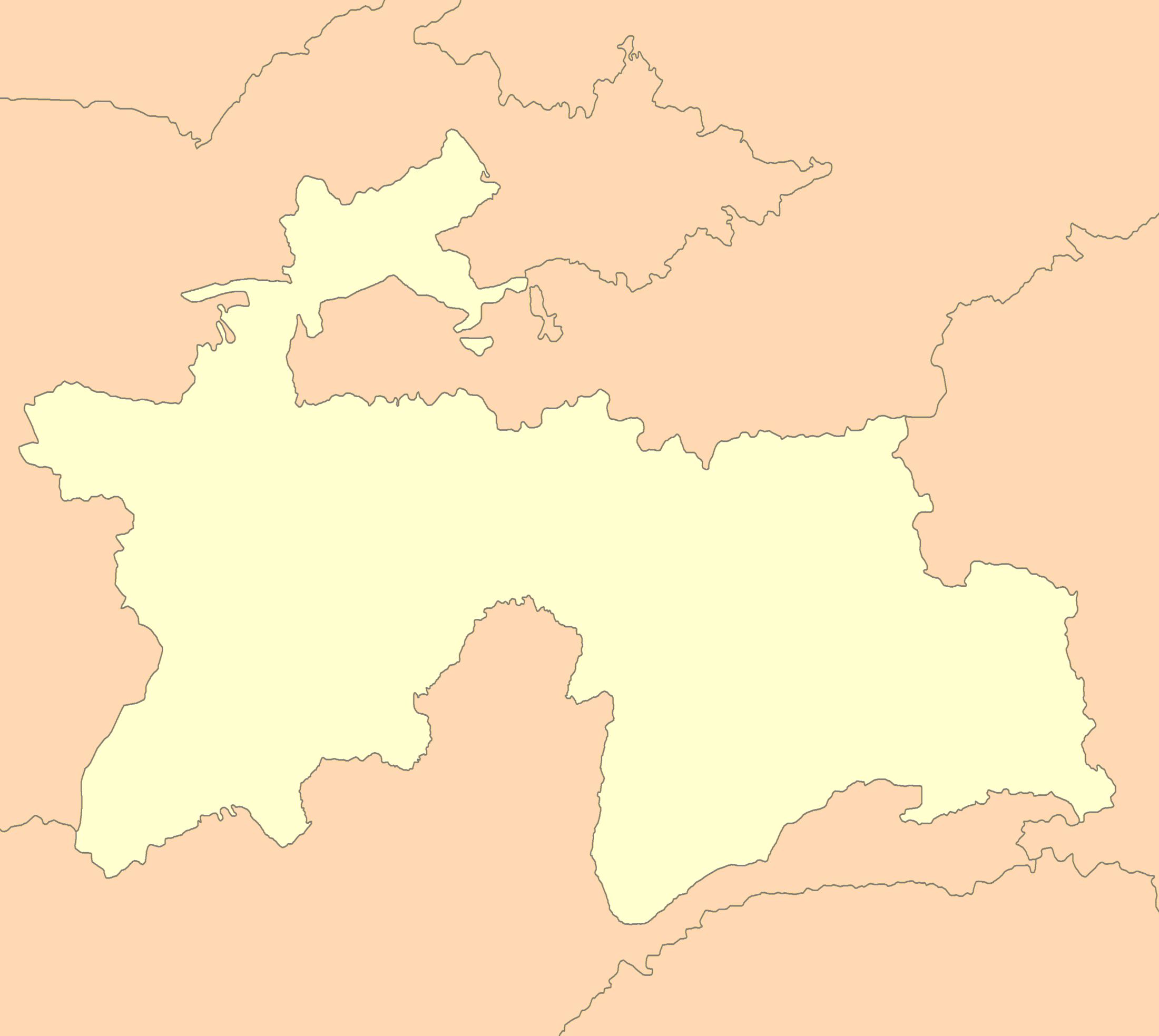 File:Tajikistan map blank.png - Tajikistan PNG