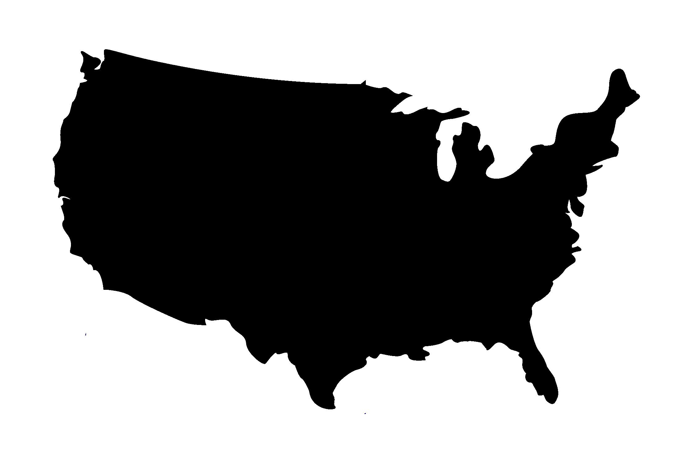 Usa PNG Transparent PNG Images PlusPNG - Us map all white clear background