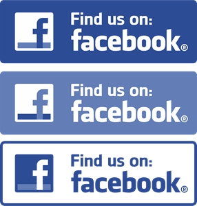 Facebook (Find us on) Logo Vector - Find Us On Facebook Vector PNG