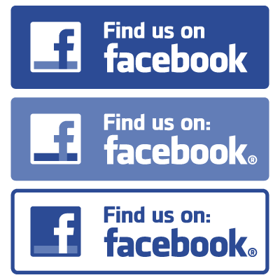 Find Us On Facebook Vector PNG - 34025