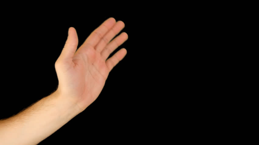 Hand Gestures - Waving, Say Goodbye. Quicktime PNG   Alpha Channel. Green  Screen. Stock Footage Video 9108884 | Shutterstock - Finger HD PNG
