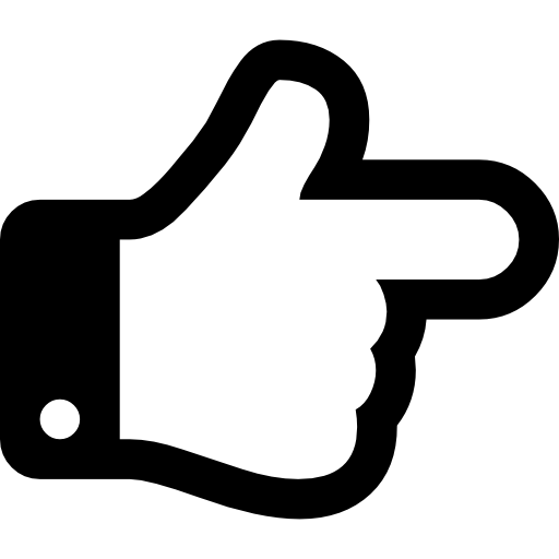 Finger of a hand pointing to right direction free icon - Finger PNG