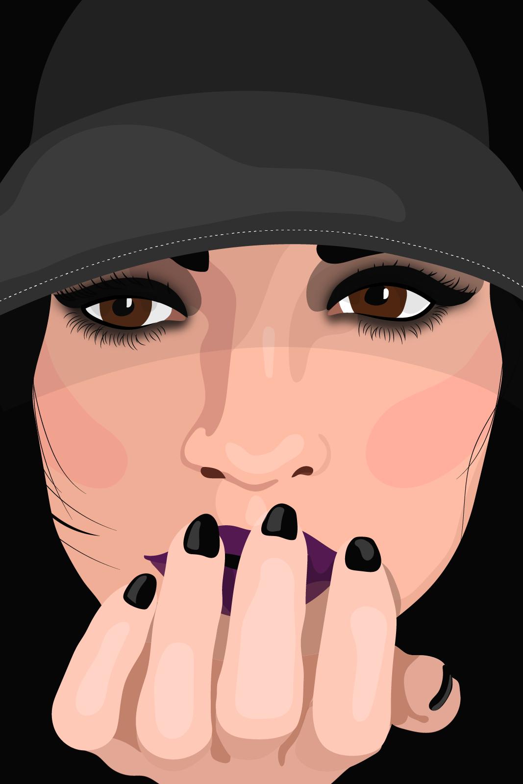 Finger On Lip PNG-PlusPNG.com-1067 - Finger On Lip PNG