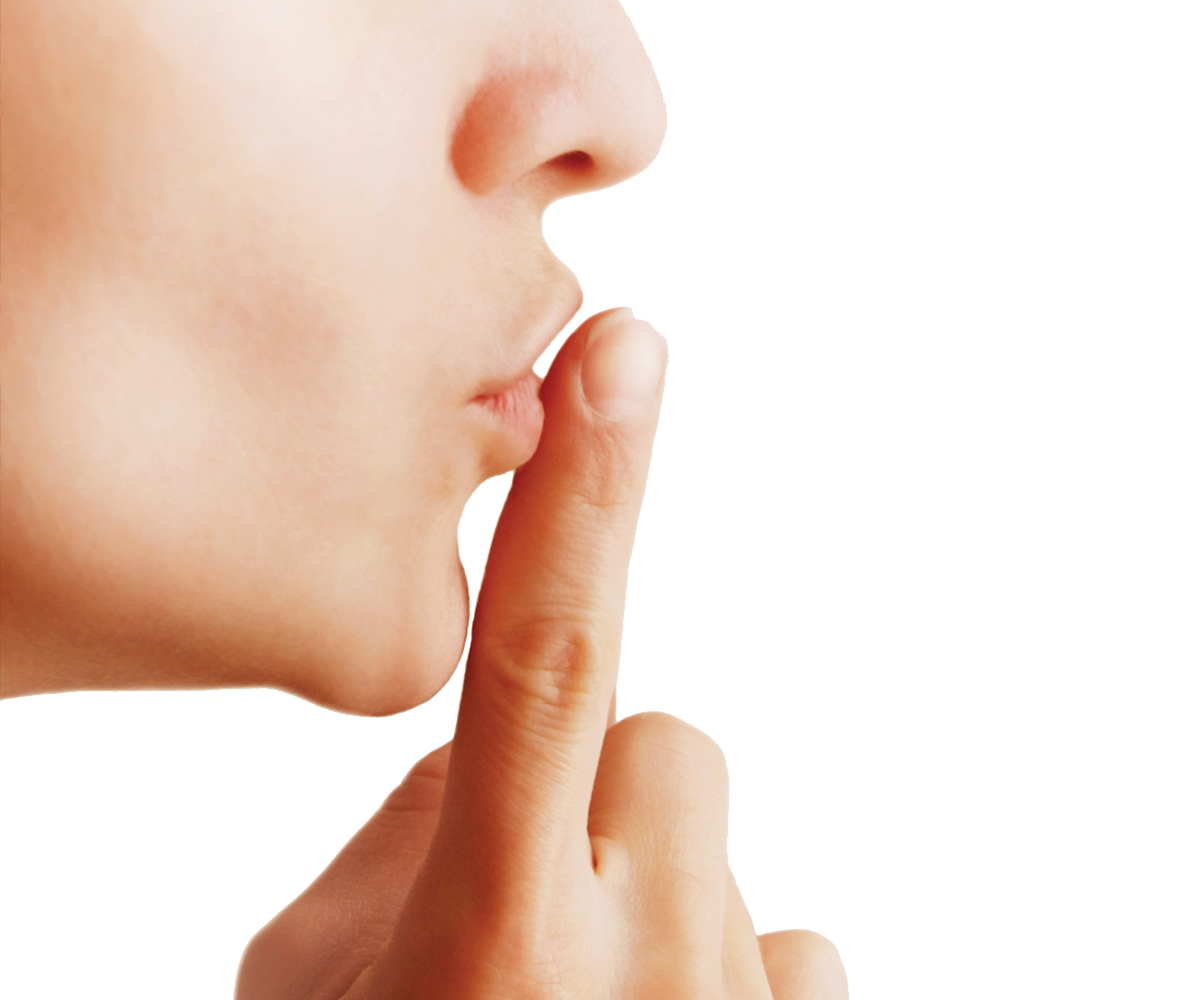 Finger On Lip PNG