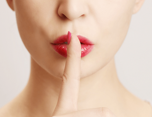 Vaguebooking and the Burlesque Performer - Finger On Lip PNG