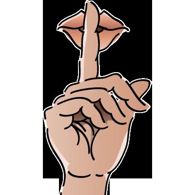 Finger On Lips Shhh PNG - 85900