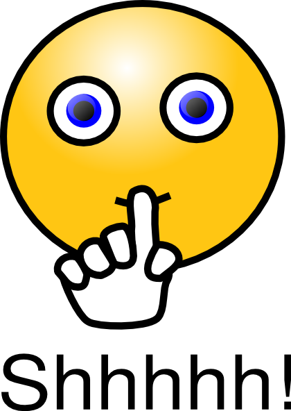Shhh Quiet Clipart - Finger On Lips Shhh PNG