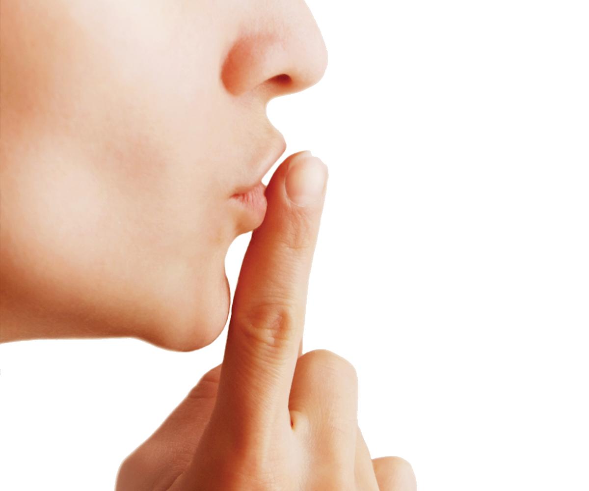 Finger On Lips Shhh PNG - 85907