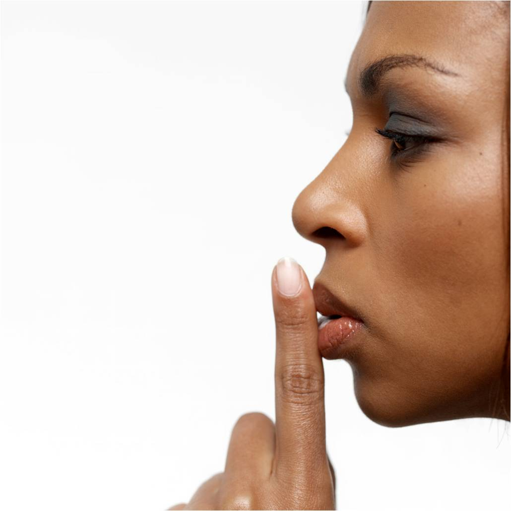 woman with finger to lips - Finger On Lips Shhh PNG
