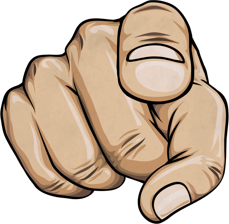 Finger Pointing At You PNG - 167322