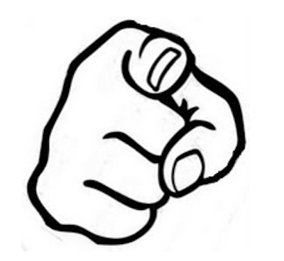 Finger Pointing At You PNG - 167329