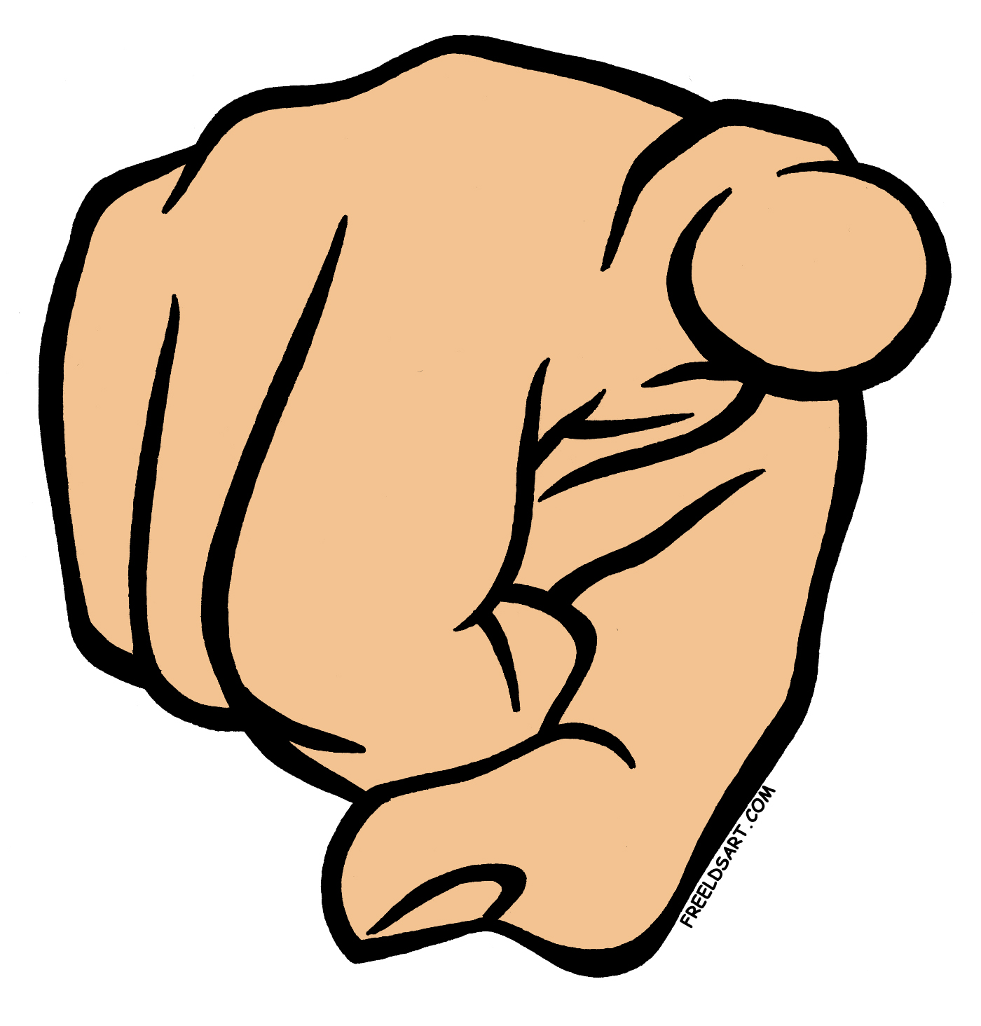 Me Pointing Finger Clipart #1 - Finger Pointing At You PNG