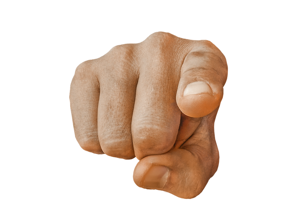 Finger Pointing At You PNG - 167316