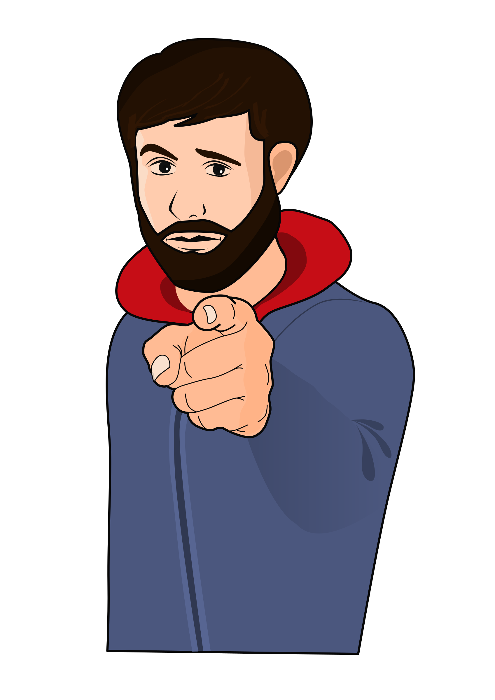 This free Icons Png design of Guy pointing a finger PlusPng.com  - Finger Pointing At You PNG