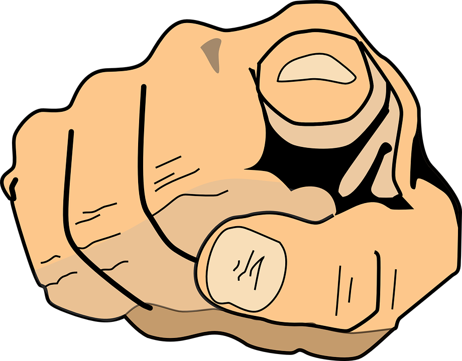 Finger Pointing At You PNG - 167313