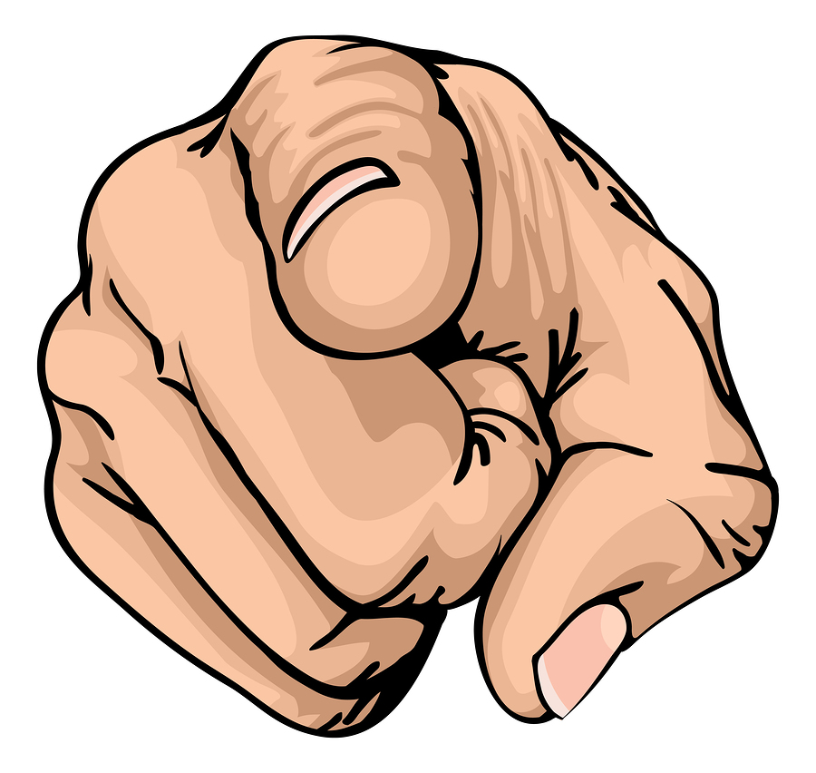 Finger Pointing At You PNG - 167324