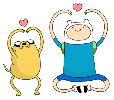 Jake The Dog And Finn The Human By Pokercake PlusPng.com  - Finn And Jake PNG