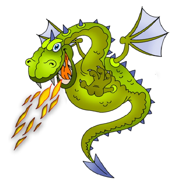 Clipart fire dragon - Fire Breathing Dragon PNG HD