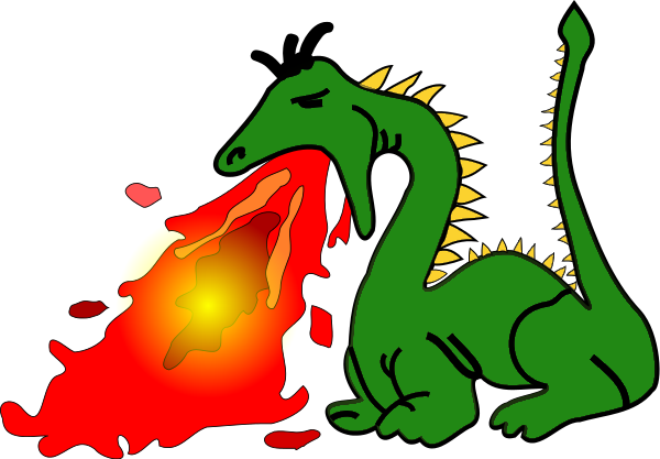 Fire Breathing Dragon | Clipart Library - Free Clipart Images - Fire Breathing Dragon PNG HD