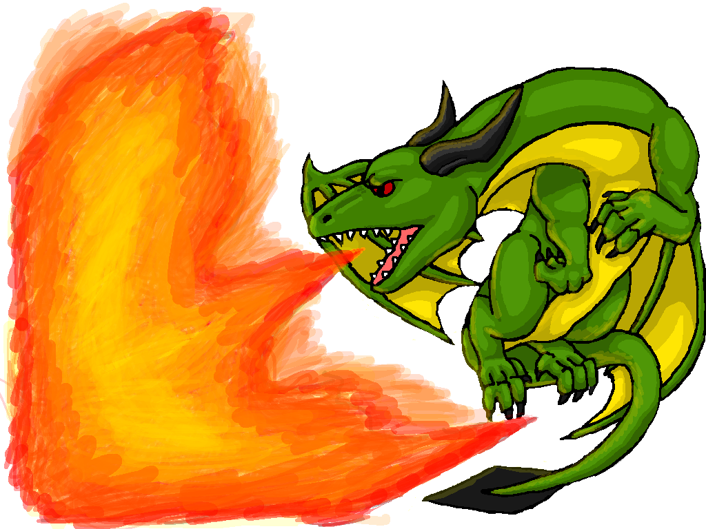Image - Green Dragon Breathing Fire By Dragonfriendhaj-d5nchxs.png - Fire Breathing Dragon PNG HD