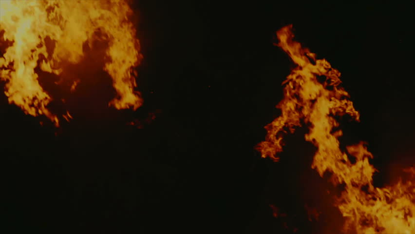 Mirrored flames in slow motion - HD stock video clip - Fire Breathing Dragon PNG HD