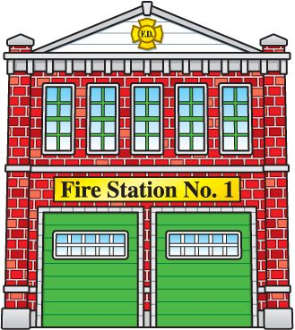 Fire Department Clip Art Image - Fire Station PNG HD
