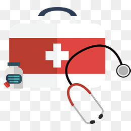 Red and white first aid kit, Vector Material, First Aid Kit, Stethoscope PNG - First Aid PNG HD Images