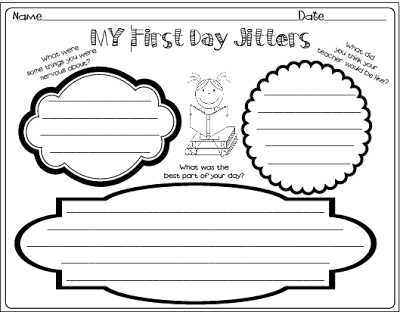 ALL About Me First Week of School Activities! First Day Jitters . - First Day Jitters PNG
