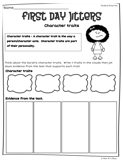 First Day Jitters Character Traits u0026 Feelings - First Day Jitters PNG
